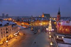 Varsóvia, quadrado do castelo fotos de stock royalty free