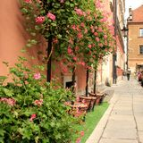 Varsóvia retro imagens de stock royalty free