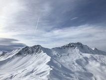 Vars. A mountain in Vars Royalty Free Stock Photography