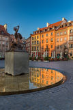 Varsavia Città Vecchia Market Place Immagine Stock