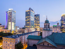 Varsavia entro Night Immagine Stock Libera da Diritti