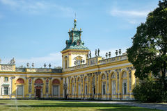 VARSAVIA, POLAND/EUROPE - 17 SETTEMBRE: Approccio a Wilanow Palac fotografie stock