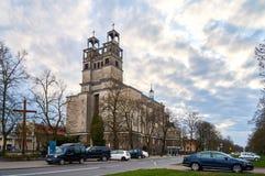 Varsavia, Polonia - 14 aprile 2016: Roman Catholic Parish della st Therese il bambino Gesù Immagine Stock