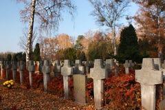 Varsavia (Polonia), cimitero militare in zki di PowÄ… Fotografia Stock