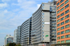 Varsavia, Polonia Costruzioni moderne dell'alta carica Immagini Stock Libere da Diritti