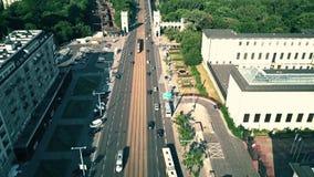 VARSAVIA, POLONIA - 5 LUGLIO 2018 Colpo aereo del ponte di Poniatowskiego video d archivio