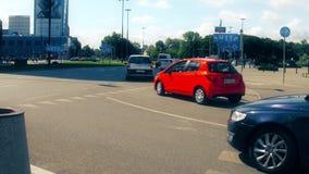 VARSAVIA, POLONIA - 11 LUGLIO 2017 Traffico della via di Polna Fotografie Stock