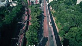 VARSAVIA, POLONIA - 5 LUGLIO 2018 Vista aerea del ponte di Poniatowskiego archivi video