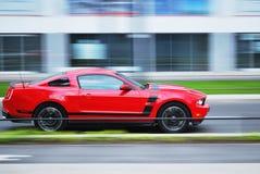 Varsavia Polonia, maggio 2015 Ford Mustang fotografia stock