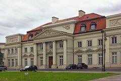 VARSAVIA, POLONIA - 12 MAGGIO 2012: Vista del palazzo dei primati immagine stock