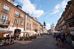 Varsavia Polonia - vecchia città Immagini Stock