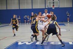 varsity γυμνασίου καλαθοσφαίρισης Στοκ φωτογραφία με δικαίωμα ελεύθερης χρήσης