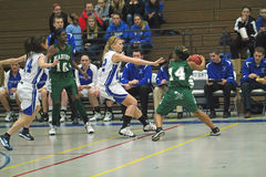 varsity γυμνασίου καλαθοσφαίρισης Στοκ Φωτογραφίες