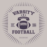Varsity College Print Vector Illustration Royalty Free Stock Images