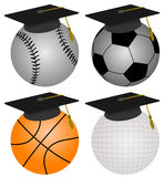Varsity graduate Royalty Free Stock Images