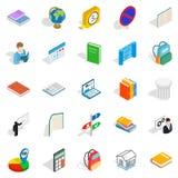 Varsity icons set, isometric style. Varsity icons set. Isometric set of 25 varsity vector icons for web  on white background Royalty Free Stock Image