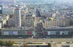 Varsovia - 12 de septiembre de 2014 visión desde el tejado Fotografía de archivo