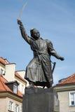VARSOVIA, POLAND/EUROPE - 17 DE SEPTIEMBRE: Monumento a Jan Kilinski foto de archivo libre de regalías