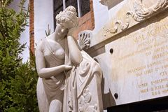 VARSOVIA, POLONIA - 1 DE ENERO DE 2016: Fragmento del monumento de la cuenta Stanislaw Malachowski 1788-1789 fotografía de archivo