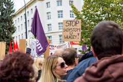 Varsovia, Polonia, 2016 10 01 - proteste contra la ley f del anti-aborto Imagenes de archivo