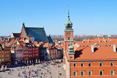 Varsovia, Stolica Polski Imagenes de archivo