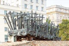 varsovia Un monumento a ésos matados en el este Imagenes de archivo
