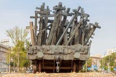 varsovia Un monumento a ésos matados en el este Foto de archivo libre de regalías