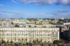 Varsovia, vista aérea de la ciudad Fotos de archivo libres de regalías