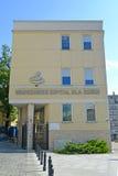Varsovie, Pologne Bâtiment d'hôpital du ` s d'enfants Photo stock