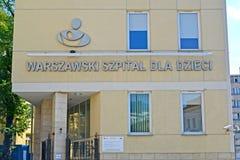 Varsovie, Pologne Façade du bâtiment de l'hôpital du ` s d'enfants Photo libre de droits