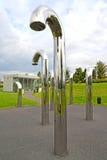 Varsovie, Pologne Installation acoustique de Sheptuna en parc des ouvreurs Centre de la Science de Copernic photographie stock libre de droits