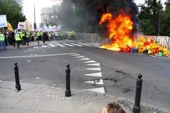 Émeute Image libre de droits