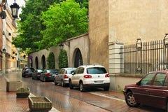 VARSOVIE, POLOGNE - 12 MAI 2012 : Vue des bâtiments historiques dans la vieille partie de Varsovie photo stock