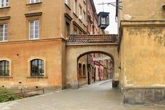 VARSOVIE, POLOGNE - 12 MAI 2012 : Vue des bâtiments historiques dans la vieille partie de Varsovie photo libre de droits