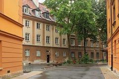 VARSOVIE, POLOGNE - 12 MAI 2012 : Vue des bâtiments historiques dans la vieille partie de Varsovie photographie stock libre de droits