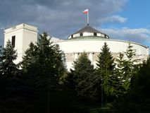VARSOVIE Sejm B?timent du Parlement ? Varsovie, Pologne photo stock