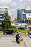 Varsovie, une scène ordinaire dedans en centre ville Photo libre de droits