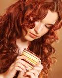 vart härligt ändrande inramnintt dricka för kaffe har bilder min fotoportfölj som wall kvinnan royaltyfria bilder