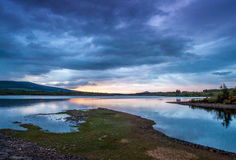 Vartry Reservoir. At sunset in County Wicklow, Ireland Royalty Free Stock Photos