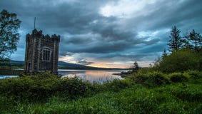 Vartry Reservoir at sunset. Sunset over the Vartry Reservoir in Wicklow, Ireland Stock Photography