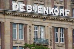 Varuhus för Deb-`-jenkorf i Amsterdam Arkivfoto