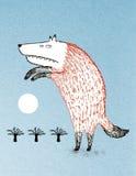 Varulv och fullmåne Vektor Illustrationer