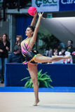 Varvara Filiou führt mit Ball durch Stockbilder