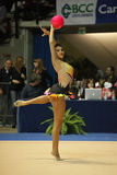 Varvara Filiou wykonuje z piłką Zdjęcie Royalty Free