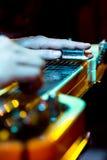 Varvstålgitarr fotografering för bildbyråer