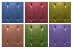Vary color leather sofa for background Stock Photos