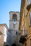 Varzi, Oltrepo Pavese, old town view. Color image Royalty Free Stock Photos
