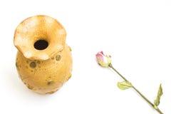Vas av guling Royaltyfri Bild