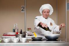 8vas competencias internacionales que cocinan Southern Europe Foto de archivo