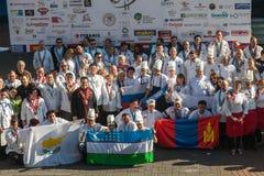 8vas competencias internacionales que cocinan Southern Europe Imagen de archivo libre de regalías